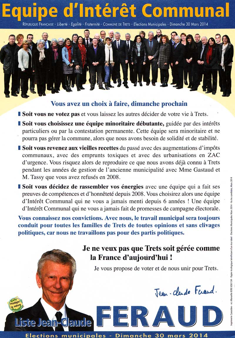 Les 4 Professions De Foi Du Second Tour Des Municipales Tretsoises