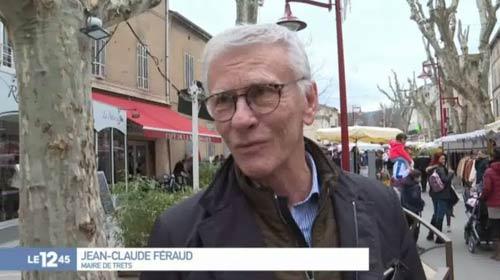 Jean-Claude Feraud interrogé sur le marché de Trets, au 12.45 de M6