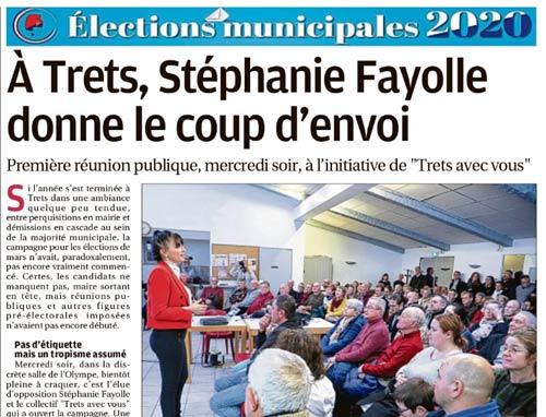 VU PAR LA PRESSE : Stéphanie Fayolle donne le coup d'envoi !