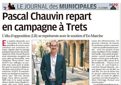 PRESSE : Pascal Chauvin repart en campagne à Trets