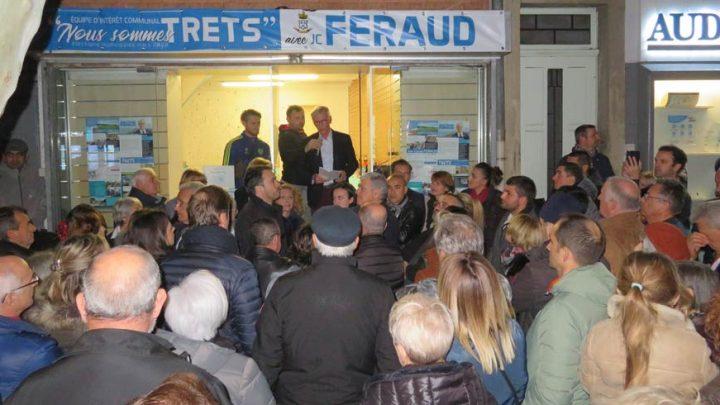 Très offensif, Jean-Claude Feraud dézingue ses adversaires, rappelle son bilan & présente son programme, en meeting