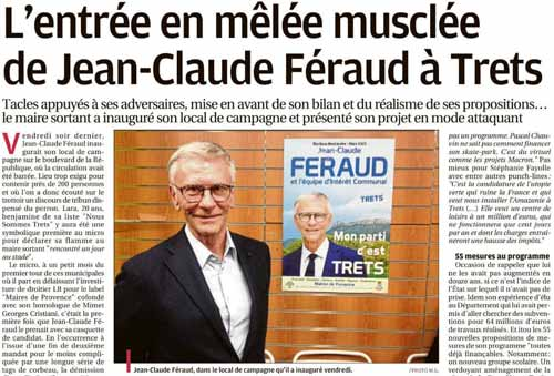 VU PAR LA PRESSE : «L'entrée en mêlée musclée de Jean-Claude Féraud»