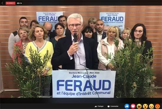 Un meeting de clôture 2.0 pour Jean-Claude Feraud entre bilan, programme et «scuds au bazooka» sur ses adversaires