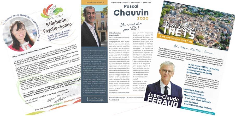 Les professions de foi des candidats tretsois pour le 1er tour des municipales 2020