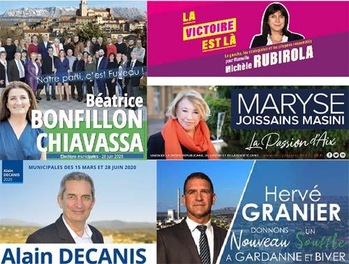 2e Tour des Municipales : Déflagration politique à Gardanne, St Maximin, Marseille, du changement à Fuveau et stable à Aix