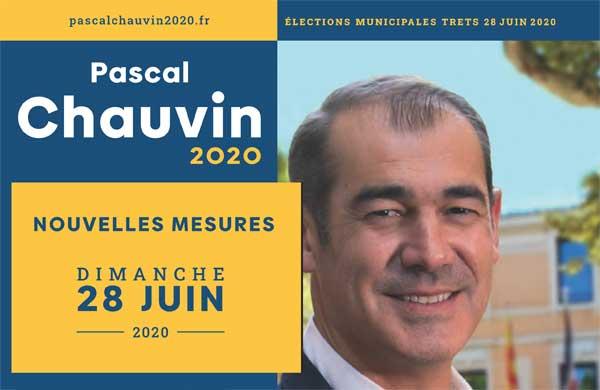 Pascal Chauvin dévoile son Programme électoral modifié Post Covid, pour le 2e Tour des Municipales 2020