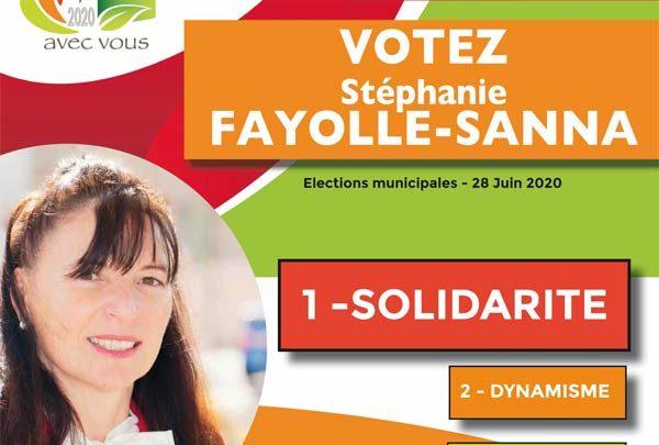 Stéphanie Fayolle dévoile son 2e tract du 2e tour consacré à la SOLIDARITE